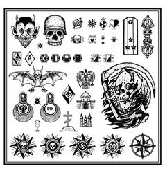 criminal tattoos vector image vector image