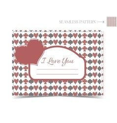 Valentine card for a Valentine Day vector image