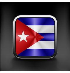 An isolated circular flag of Cuba vector image