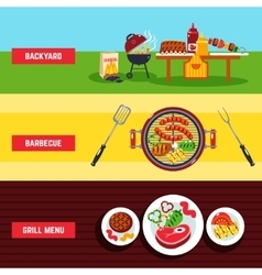 Barbecue Banner Set vector image