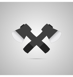 Crossed axes vector image