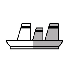 cruise ship travel maritime line shadow vector image