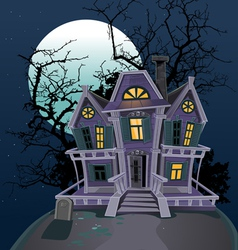 Halloween witch magic house vector
