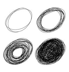 pencil drawn ovals vector image vector image