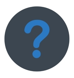 Question flat smooth blue colors round button vector image vector image