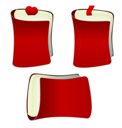 The red notebook with bookmark vector image vector image