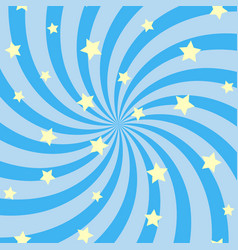 Abstract swirling radial pattern with stars vector