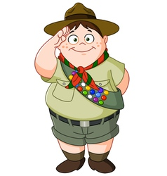 boy scout vector image