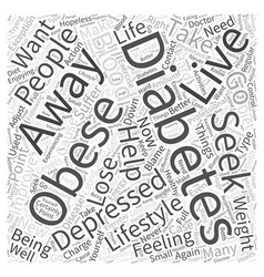 Diabetes and obesity can cause depression word vector