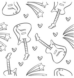 guitar music pattern style collection vector image vector image