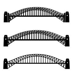 metal Sydney Harbour bridge black symbol vector image