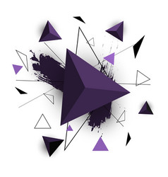 purple triangle abstract on white background vector image vector image