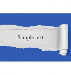 ripped paper blue background vector image
