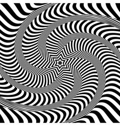 Torsion and rotation movement vector image