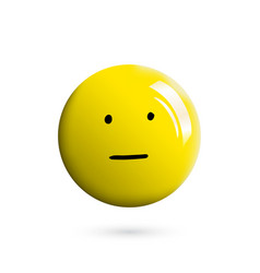 3d realistic and hand drawn emoticon or smile vector image