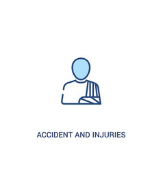 Accident and injuries concept 2 colored icon vector