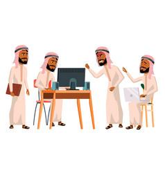 arab man office worker saudi emirates vector image