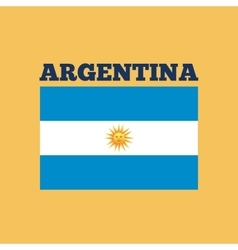 argentina country flag vector image