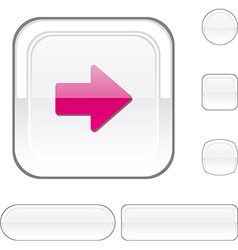 Arrow white button vector