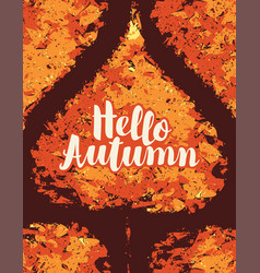 autumn banner with bright autumn poplar leaf vector image