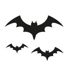 bat black silhouette icon isolated on white vector image