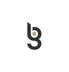 Bg building logo template vector