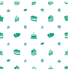 Biscuit icons pattern seamless white background vector
