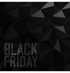 Black friday Sale Poster Triangular Low Poly Dark vector