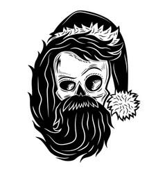 black skull sign vector image