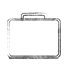 Blurred silhouette executive briefcase with handle vector