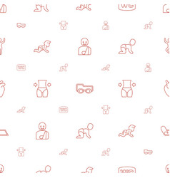 Body icons pattern seamless white background vector