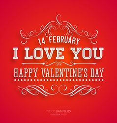 Bright Red Valentines Card vector image