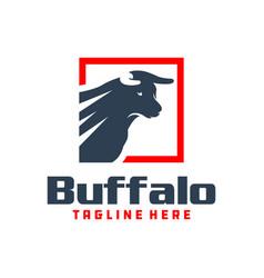 Bull shield emblem logo vector