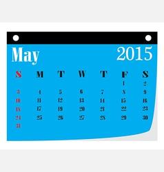Calendar May 2015 vector image