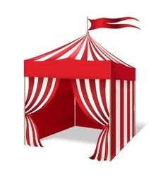 Circus or carnival tent vector