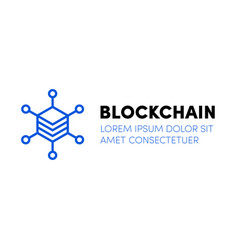cloud blockchain cryptocurrency server logo vector image