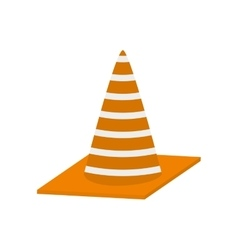 Construction cone with stripes vector