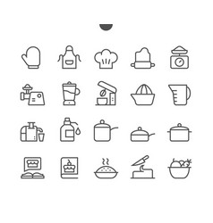 cooking ui pixel perfect well-crafted thin vector image