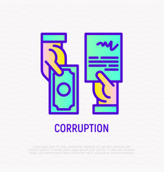 corruption icon agreement in exchange of money vector image