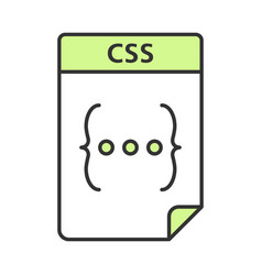 Css file color icon cascading style sheets vector