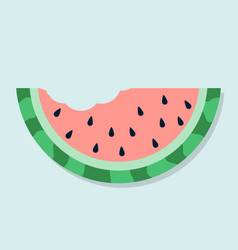 cute watermelon bite vector image