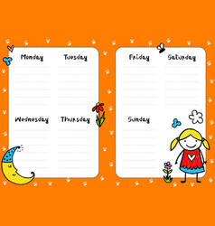 Diary page vector