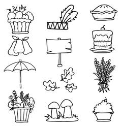 Element thanksgiving doodles vector