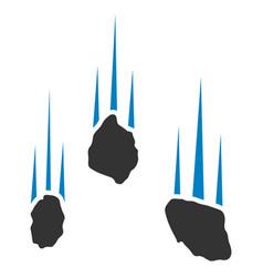 Falling rocks icon vector