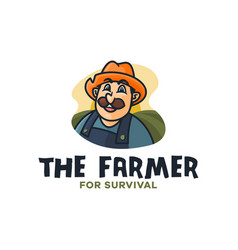 farmer mascot vector image