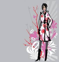 Fashion model vector