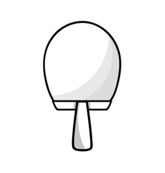 Figure racket to table tennis play game vector