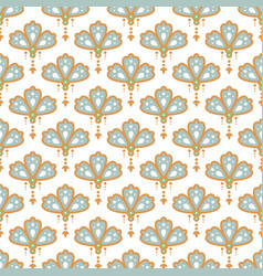 floral pendant shape seamless pattern soft blue vector image