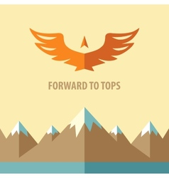 Forward to topsTourism mountain climbing vector image