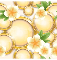 gold frames with frangipani vector image